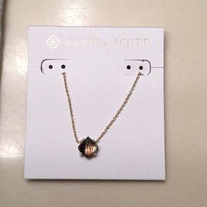 Kendra Scott Annaliese/Gold/Brown necklace - new!